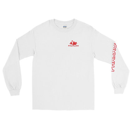 White Men's Long Sleeve Shirt