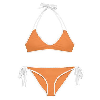 Orange Cream Soda Color Scheme Navy Classic 2-Piece Bikini copy