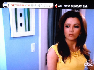 "Photo Art Piece ""Six"" appearing in Commercial for this weeks ABC/Desperate Housewives Episode"