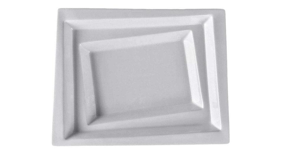 """Square Collection 9.8"""" (25 Cm) Porcelain Soup Plate"""