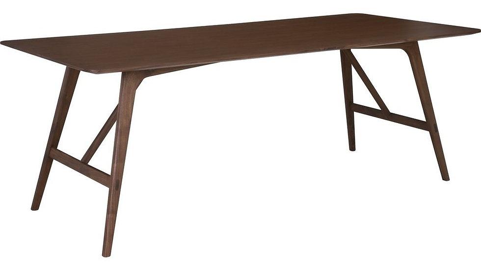 Fidel Rectangular Dining Table - Walnut