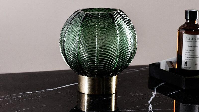 Luxury  Embossed Table Top Vase
