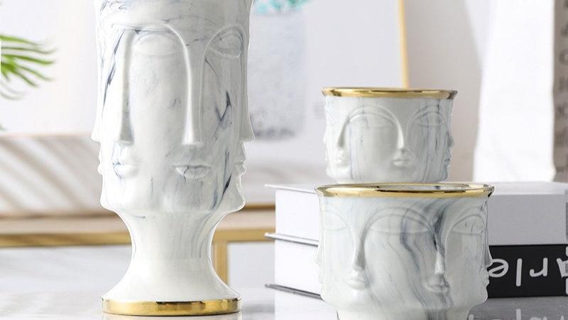 Multi-FACE Ceramic Planter