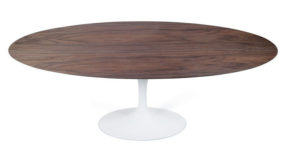Maisie Dining Table - Oval - Walnut/White Oak/Ash Top