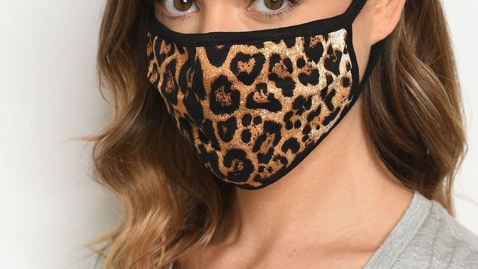 Animal Print Reusable Face Mask for Adults