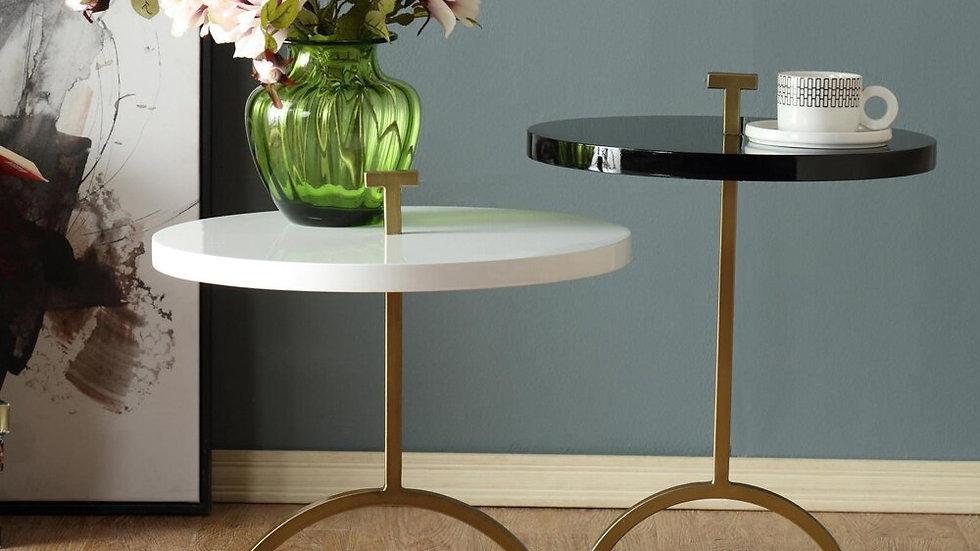 Metal Wood End Table / Tea Table With Lifting Handle