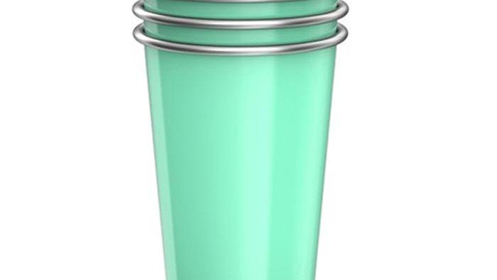 Bevu®  CAMPING Steel Cups (4) Mint 470ml / 16oz.