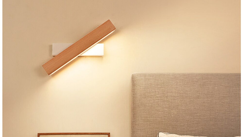 ART DECO Wood Accent LED Wall Sconce