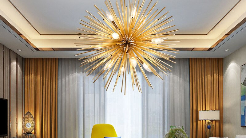 STARBURST Golden Chandelier