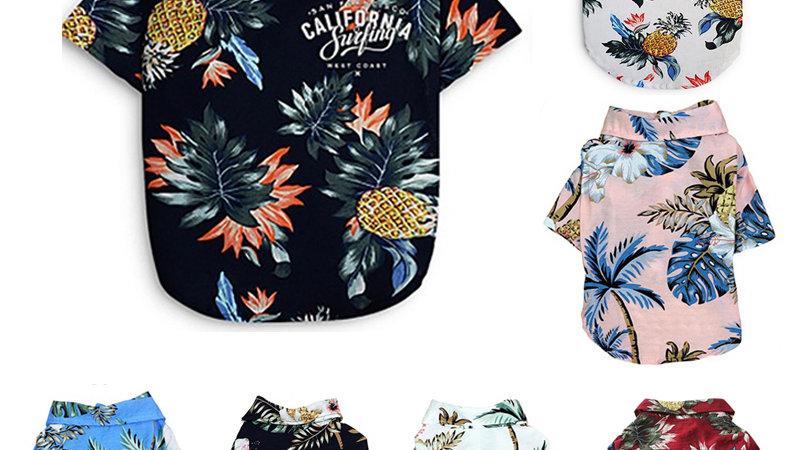 FUR BABY  Floral Beach Shirt !