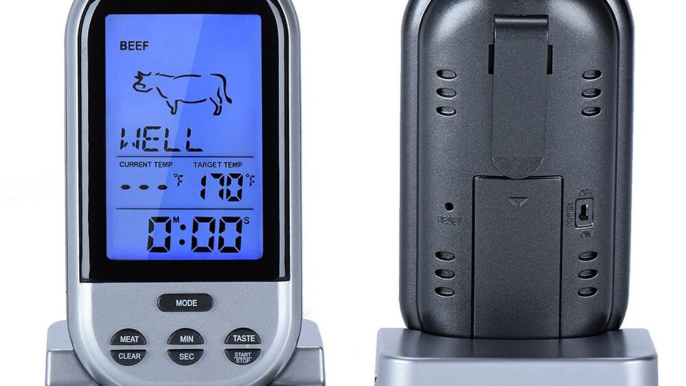 Digital Wireless BBQ/OVEN Thermometer with Timer