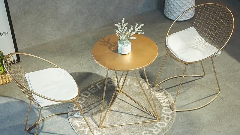 Hollow Wire Creative Tables & Chair Sets