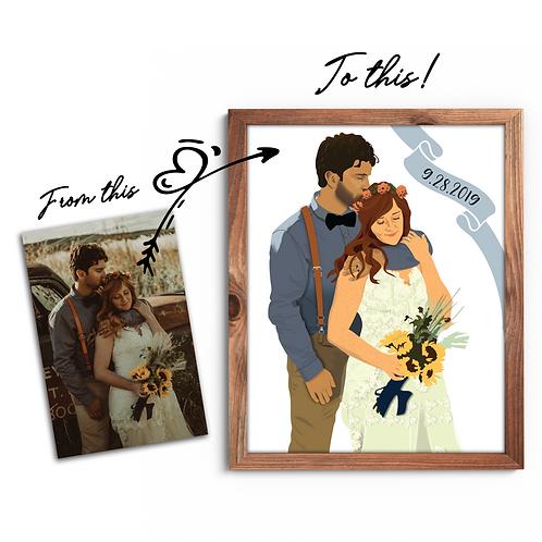 Digital Couple's Illustration