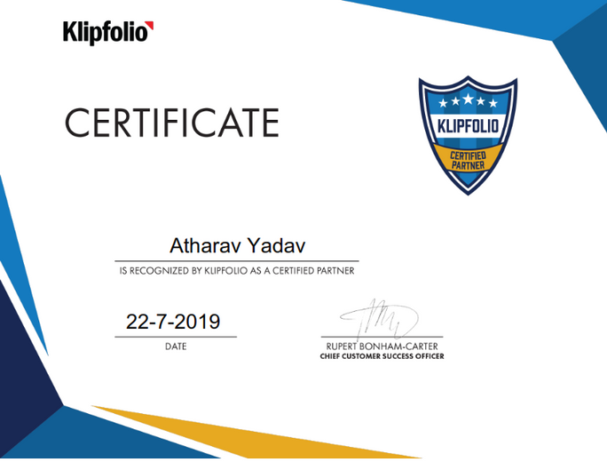 Certified Partner of KlipFolio (A Canadian Software Company)