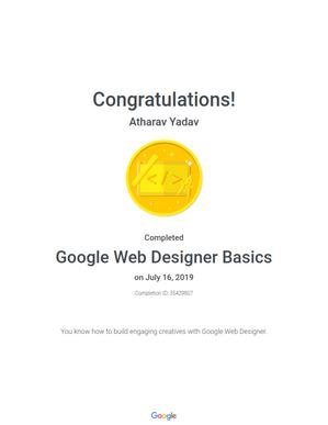 Google Recognized as Google Web Designer