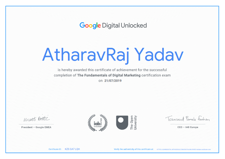 Google Certified Digital Marketing Manager