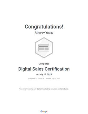 Digital Sales Certified Professional