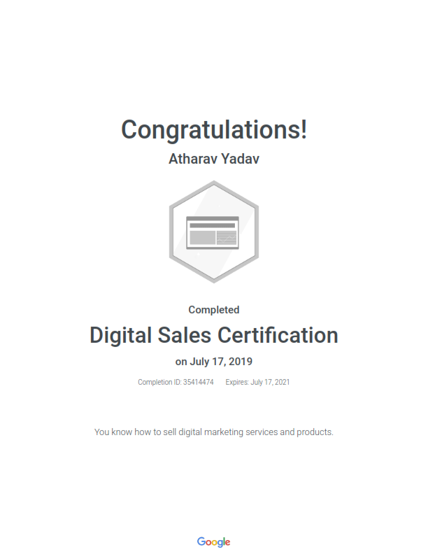 Digital Sales Certified Professional