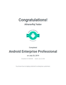 Google Certified Android Enterprise Professional Course