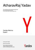 Yandex Recognized as Yandex.Metrica Expert