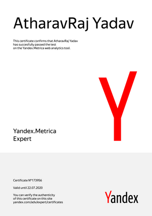 Yandex Recognized as Yandex.Metrica Expert