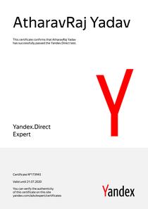 Yandex Recognized as Yandex.Direct Expert