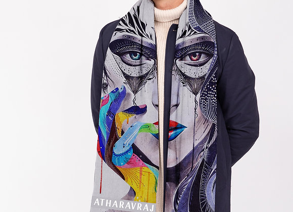 'Psychedelic Art' on Scarf