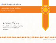 Certification of Advanced Google Analytics