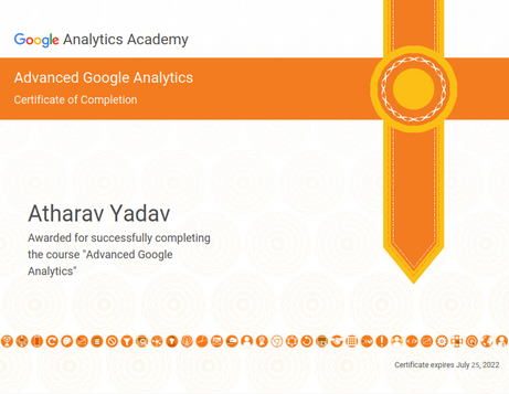 Certification of Advanced Google Analytics
