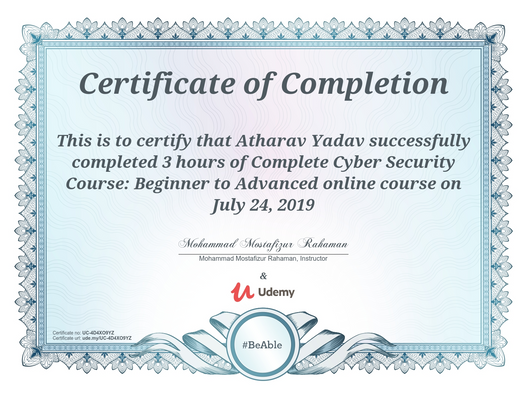 Certification of Complete Cyber Security