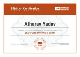 SEMrush Recognized as SEO Fundamentals Professional