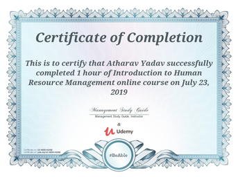 Certification in Introduction to Human Resource Management