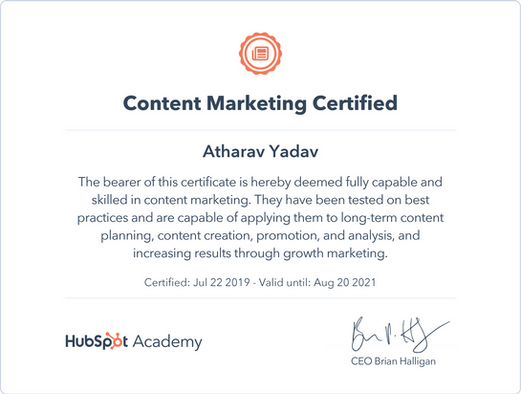HubSpot Recognized as Content Marketing Certified