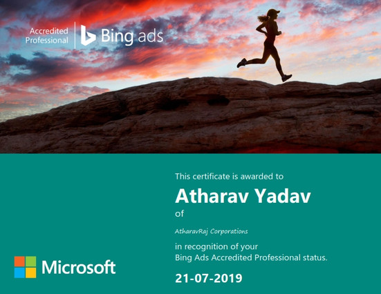 Microsoft Bing Ads Accreditated Professional