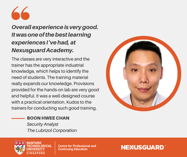 Nexusguard_Academy_Student_Testimonials_Boon_Hwee_Chan