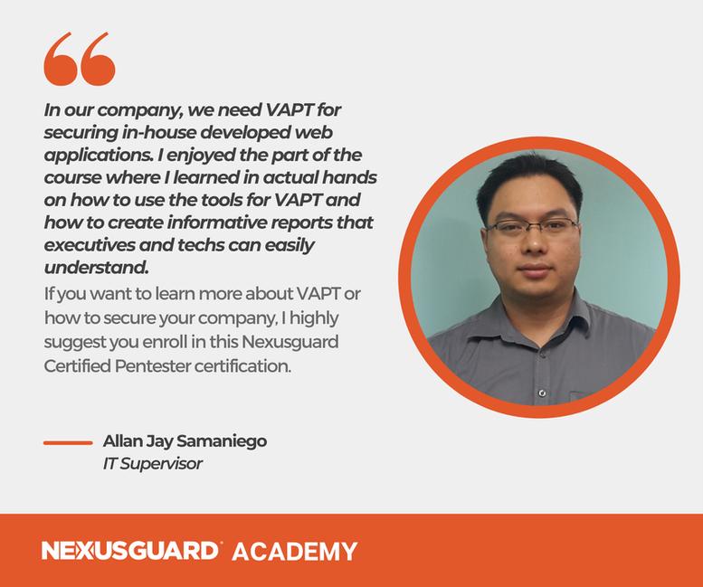 Nexusguard_Academy_Student_Testimonials_Allan_Jay_Samaniego