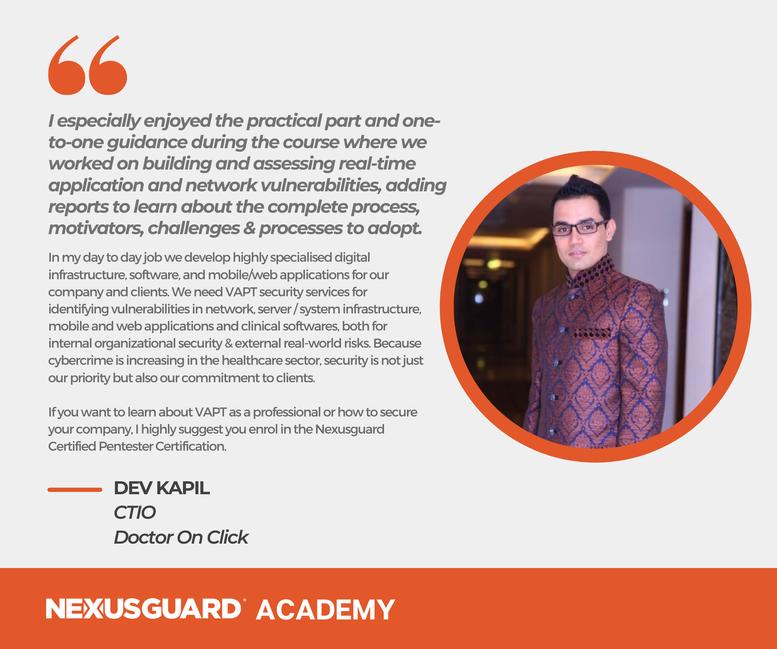 Nexusguard_Academy_Student_Testimonials_Dev_Kapil
