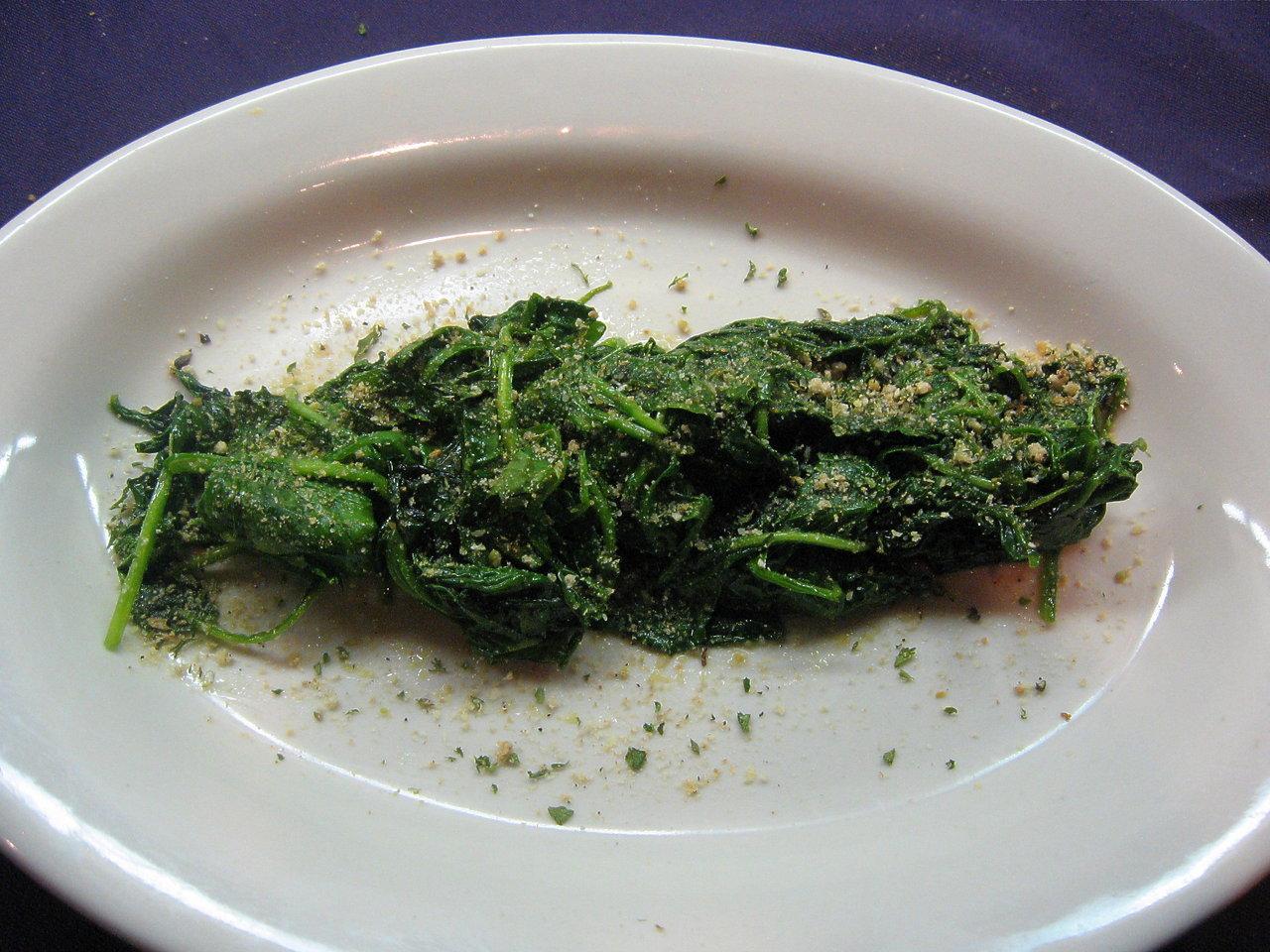 Sauteed Garlic Spinach