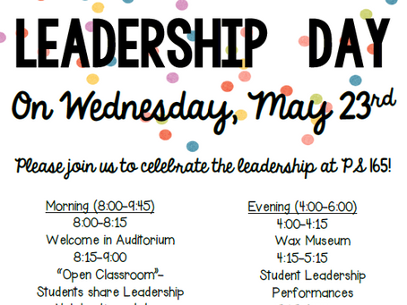 Leadership Day is almost here! May 23!