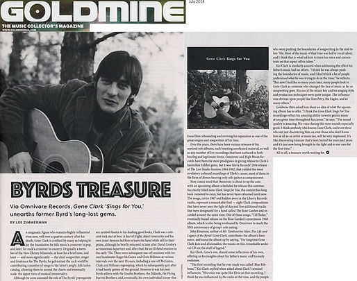 Gene Clark Sings For You review Goldmine Magazine