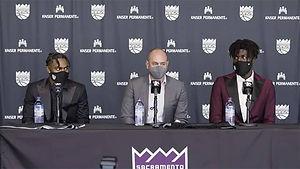 Davion Mitchell and Neemias Queta introduced to Sacramento