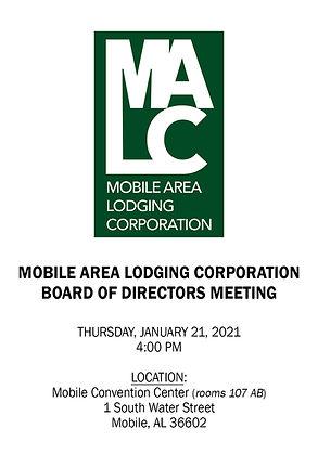MALC Board Meeting Notice - 01212021 - U