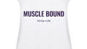 Muscle Bound white tank