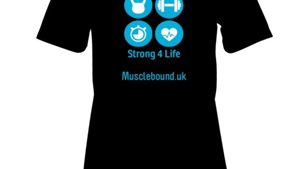 Muscle Bound strong for life women's t-shirt