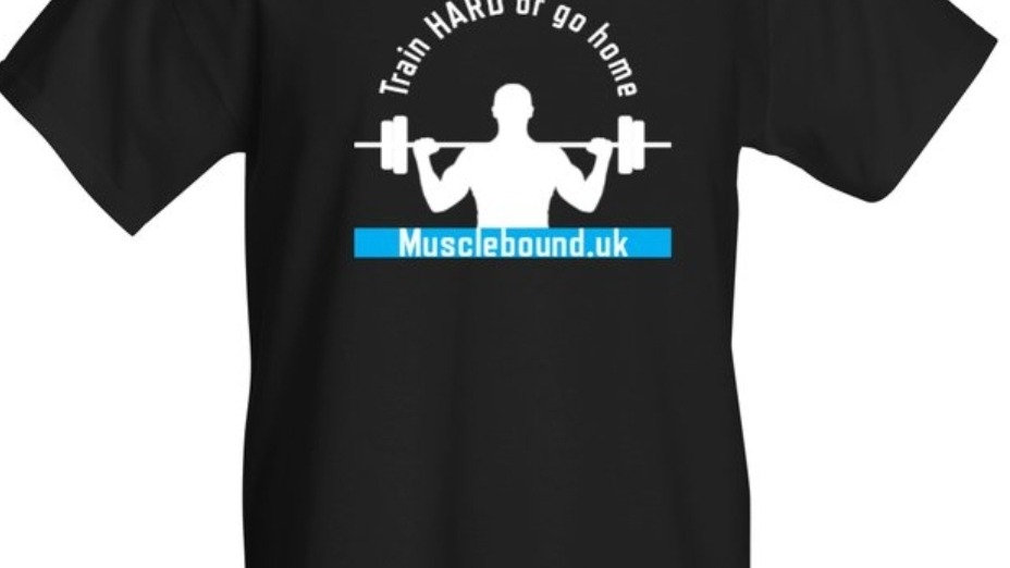 Muscle Bound Train Hard t-shirt