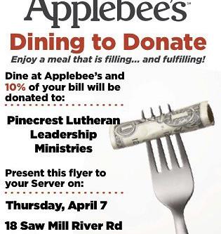 Applebee's Dining to Donate event!