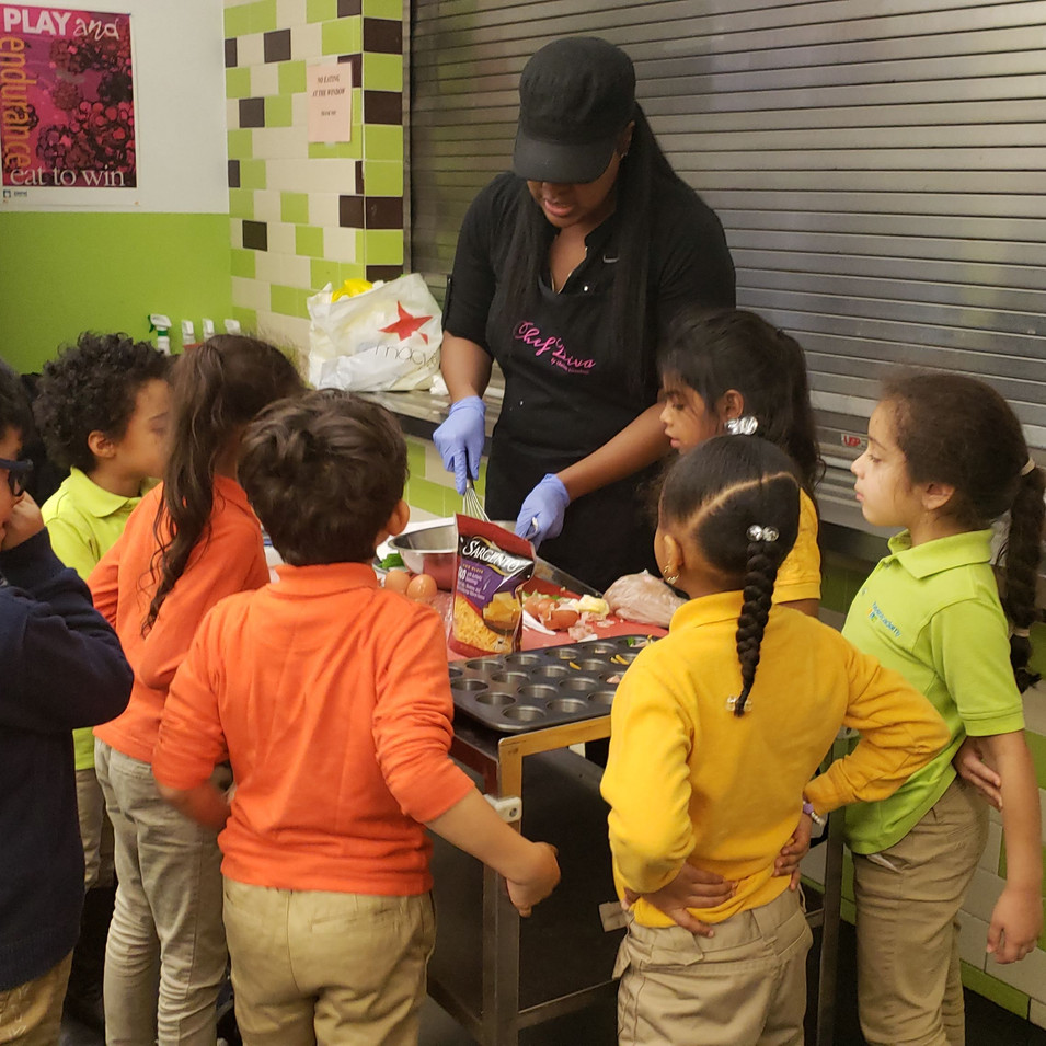 Children's Cooking Class at Haven Academy a Charter School in the Bronx