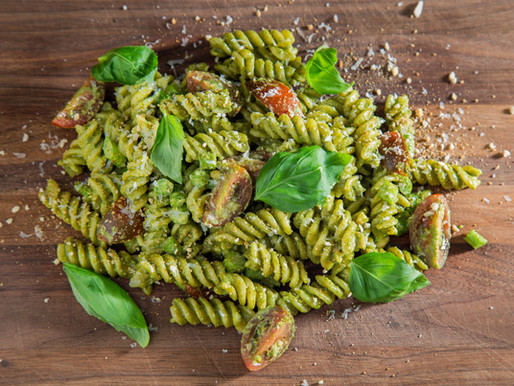 how to make BASIL PESTO pasta