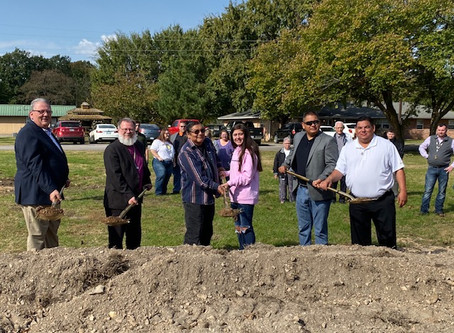 Groundbreaking for new cottage at Oaks Indian Mission