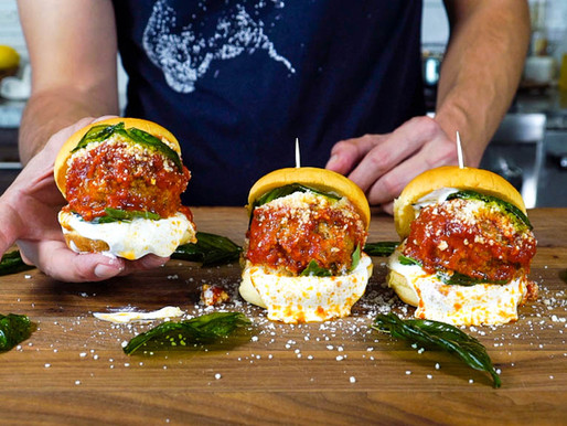 Ricotta Meatball Sliders